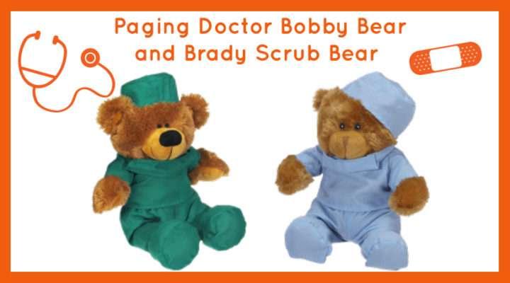 Doctor Bobby Bear and Brady Scrub Bear