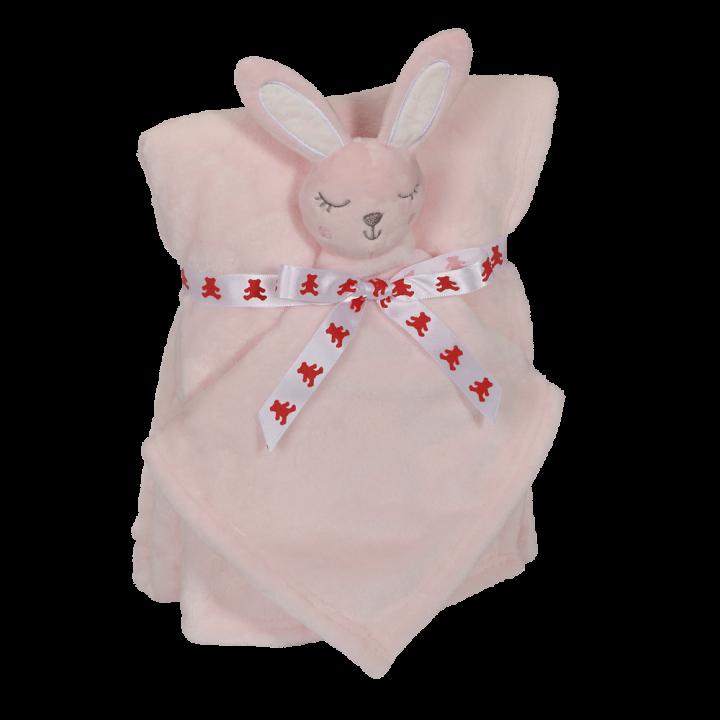 Bunny Blankey Buddy Set, Pink