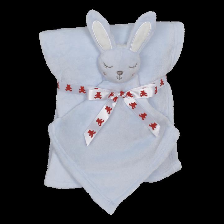 Bunny Blankey Buddy Set, Blue