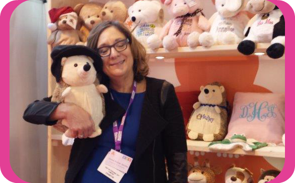 Donna Kotzer-Jacobs with Hedley Hedgehog at Prinwear and Promotion LIVE