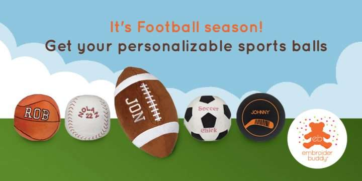 It's Football season! Get your personalizable Sports Balls
