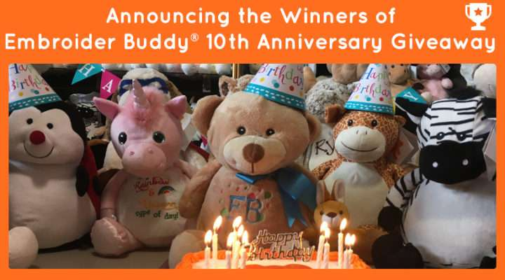 Embroider Buddy Winners