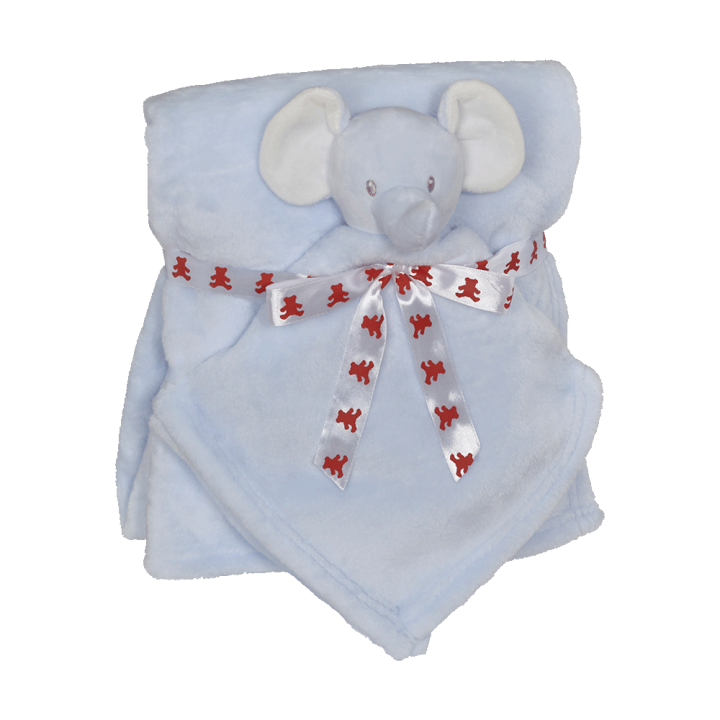 Elephant Blankey Buddy Set, Blue