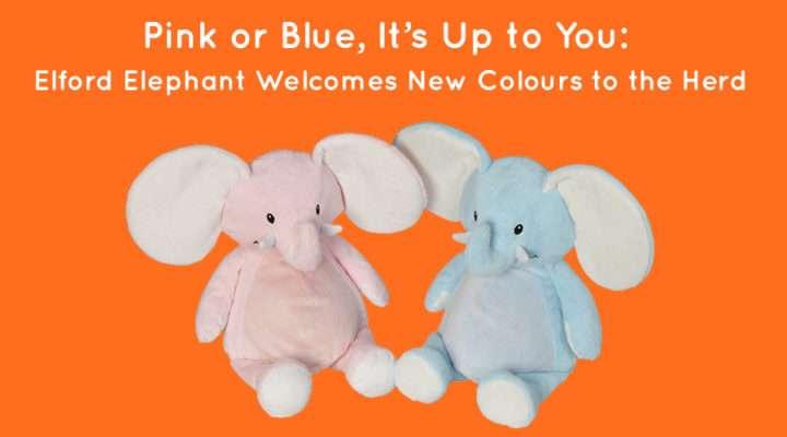 Pink or Blue Elford Elephant