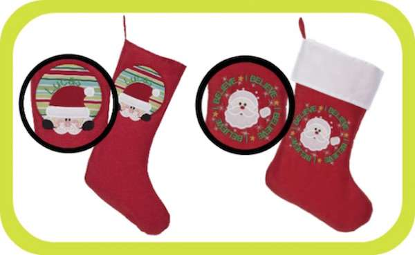 Embroider Buddy easy as 1-2-3! stockings