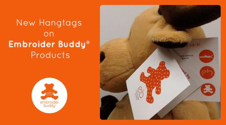 New Hangtags on Embroider Buddy® Products