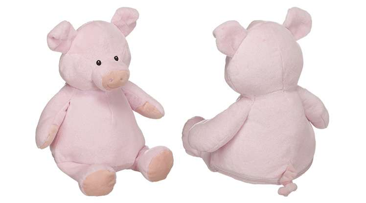 Front and back of Piggie
