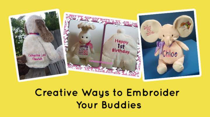 Go Beyond the Belly! Creative Ways to Embroider Your Buddies