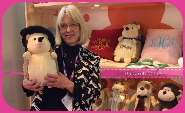 Deborah Jones and Hedley Hedgehog