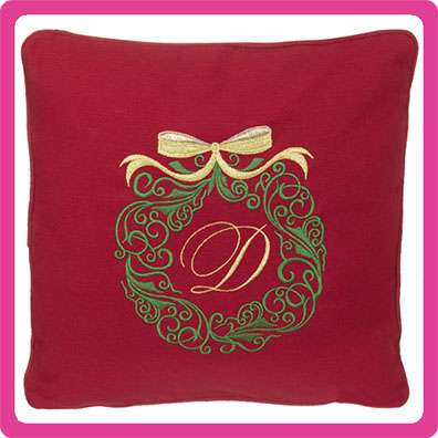 Red Embroider Buddy Pillow