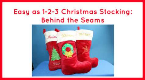 Easy as 1-2-3 Christmas Stocking: Behind the Seams
