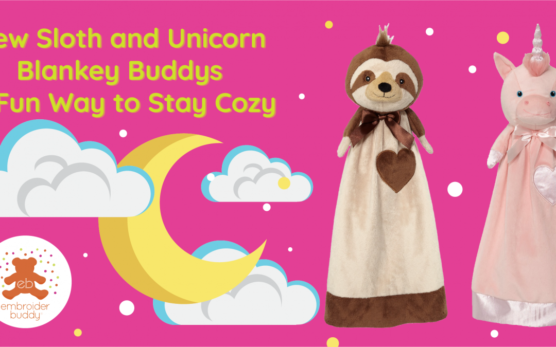 New Sloth and Unicorn Blankey Buddys a Fun Way to Stay Cozy