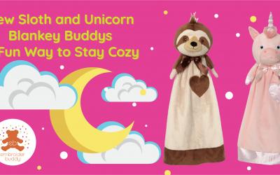 New Sloth and Unicorn Blankey Buddys a Fun Way to Stay Cozy