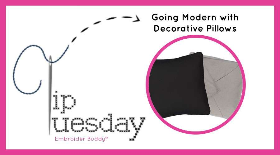 Tip Tuesday: Going Modern with Decorative Pillows