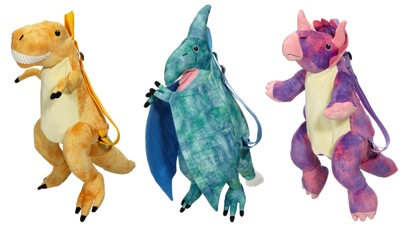 Dino-mite! Introducing New Embroider Buddy® Easy as 1-2-3 Backpacks