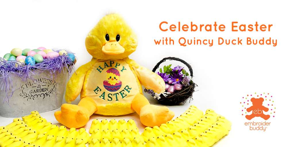 Celebrate Easter with Quincy Duck Buddy!