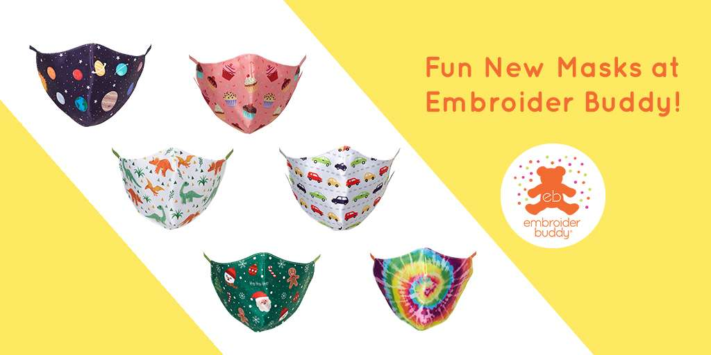 Fun New Masks at Embroider Buddy®