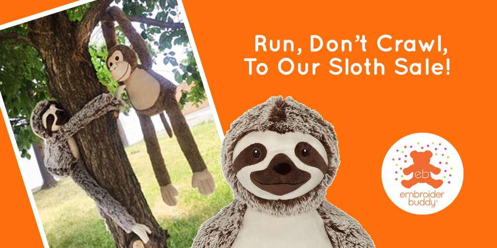 Run, Don't Crawl, To Our Sloth Sale!