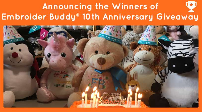 Announcing the Winners of Embroider Buddy® 10th Anniversary Giveaway