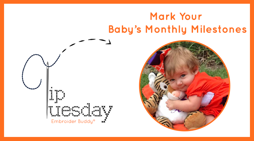 Tip Tuesday: Mark Your Baby's Monthly Milestones with Embroider Buddy®