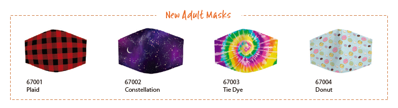New adult face masks