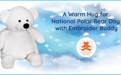 A Warm Hug for National Polar Bear Day with Embroider Buddy!