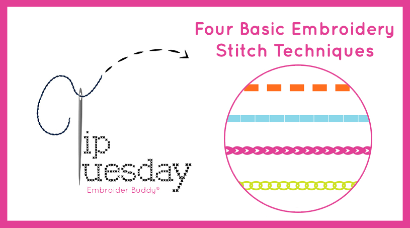 Tip Tuesday: Four Basic Hand Embroidery Stitch Techniques