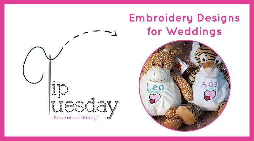 Tip Tuesday: Embroidery Designs for Weddings
