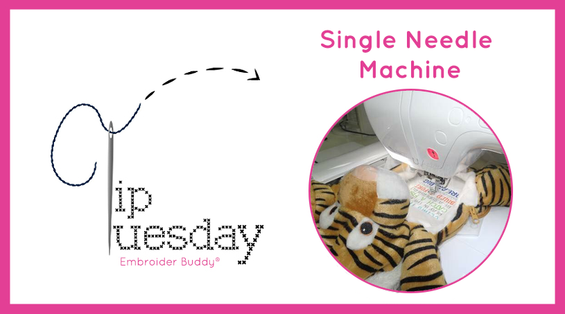 Tip Tuesday: How to Embroider Your Buddy with a Single Needle Machine
