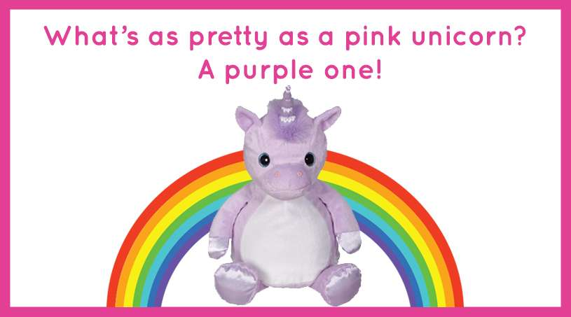 What's as pretty as a pink unicorn? A purple one!