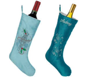 Embroider Buddy Stockings make great wine sleeves